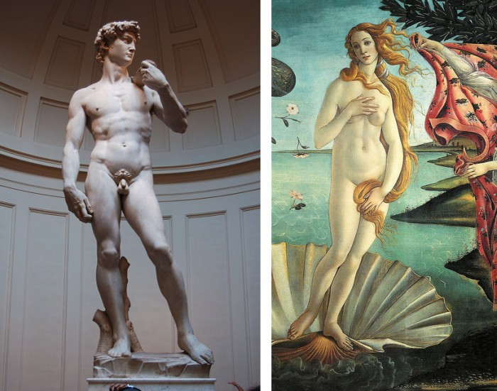 David Michelangelo and Venus Botticelli