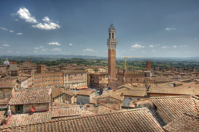 "The Siena tower of ""Mangia"" Tuscany"