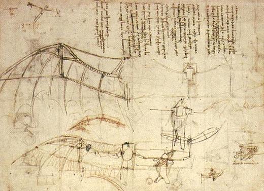 Leonardo flying machine Fiesole Tuscany