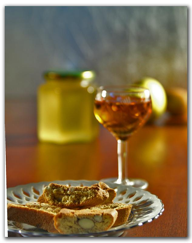 Cantucci biscuits and vin santo