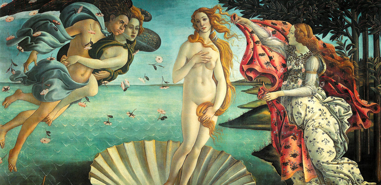 Primavera of Sandro Botticelli in Florence