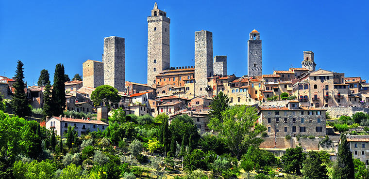 Beautiful view of San Gimignano in Tuscany