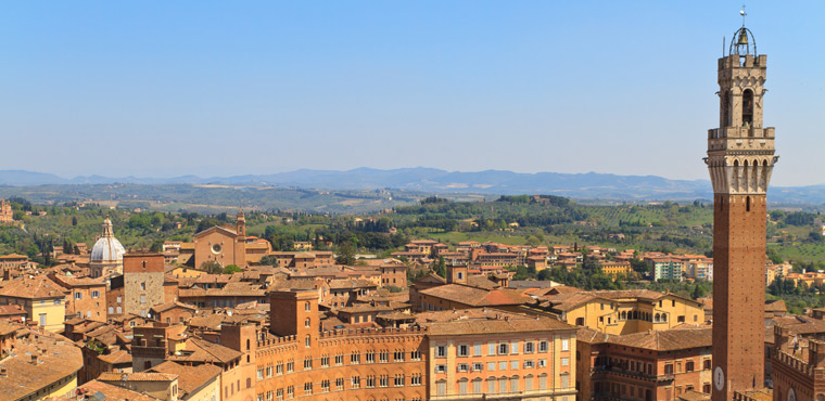 Beautiful view of Siena